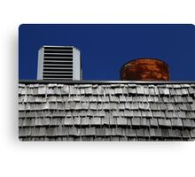 Strip Mall Roof Abstract Canvas Print