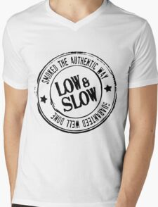 BBQ low and Slow Mens V-Neck T-Shirt