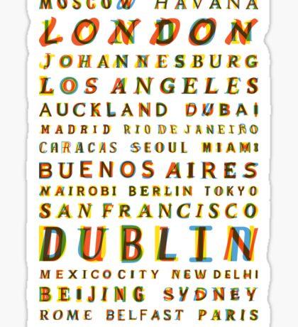 Travel World Cities Sticker