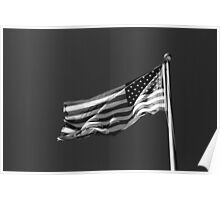 Stars and Stripes 10 BW Poster