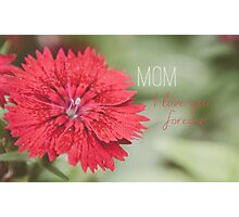 Mom I love you Photographic Print