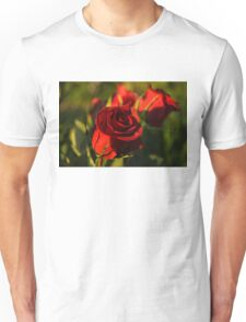 Ruby Red Birthday Roses  Unisex T-Shirt