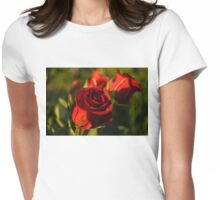 Ruby Red Birthday Roses  Womens Fitted T-Shirt