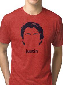 Justin Trudeau (Hirsute History) Tri-blend T-Shirt