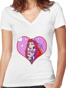 Captain Syrup Women's Fitted V-Neck T-Shirt