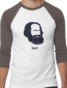 Karl Marx (Hirsute History) Men's Baseball ¾ T-Shirt