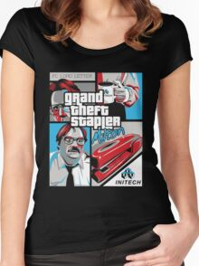 Grand Theft Stapler Women's Fitted Scoop T-Shirt
