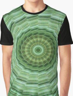 Green Stripes Kaleidoscope 11 Graphic T-Shirt