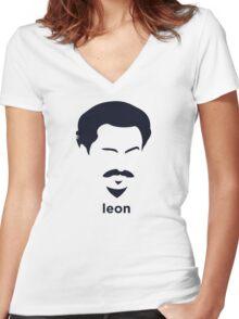 Leon Trotsky (Hirsute History) Women's Fitted V-Neck T-Shirt