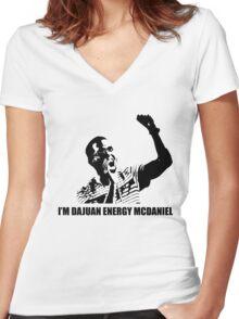 I'M DAJUAN ENERGY MCDANIELS Women's Fitted V-Neck T-Shirt
