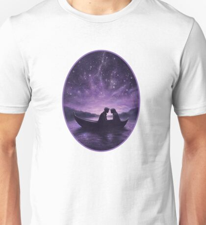 Lovers under a starlit sky Unisex T-Shirt