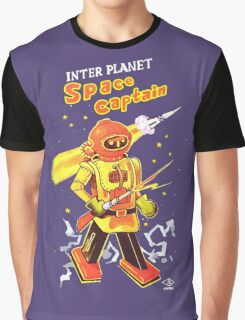 """SPACE CAPTAIN Robot Toy """"Made in Japan"""" Graphic T-Shirt"""