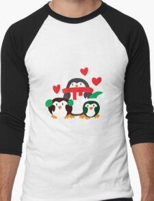 Winter Penguins Men's Baseball ¾ T-Shirt