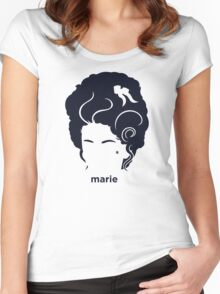 Marie Antoinette (Hirsute History) Women's Fitted Scoop T-Shirt