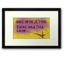 Once Upon a Time there was This Lamp... Framed Print