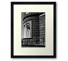 Harrington Inn Detail 3 BW Framed Print