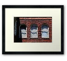 Harrington Inn Windows Framed Print