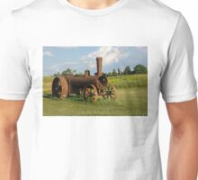 Antique And Rusty - a Vintage Iron Tractor on a Farm Unisex T-Shirt