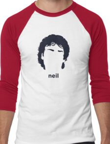 Neil Gaiman (Hirsute History) Men's Baseball ¾ T-Shirt