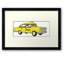 Betta Taxi Framed Print