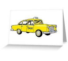 Betta Taxi Greeting Card