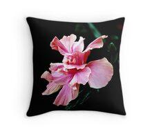 Tropical Pink Flower  Throw Pillow