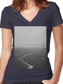 Dark Waters Women's Fitted V-Neck T-Shirt