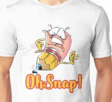 Funny Cartoon Oh Snap Broken Pencil Character Unisex T-Shirt