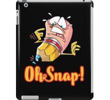 Funny Cartoon Oh Snap Broken Pencil Character iPad Case/Skin