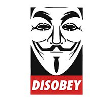 Anonymous Disobey Guy Fawkes Photographic Print