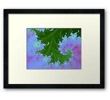 Fractal Fern Plant Framed Print
