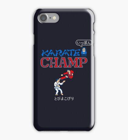 Karate Champ Retro Videogame iPhone Case/Skin