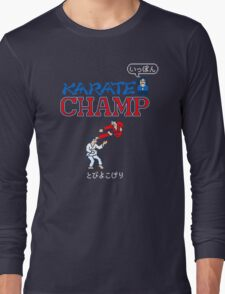 Karate Champ Retro Videogame Long Sleeve T-Shirt