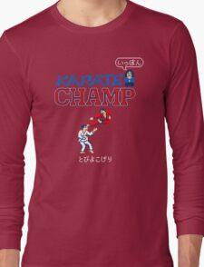 Karate Champ Retro Videogame Long Sleeve T-Shirt