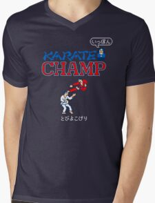 Karate Champ Retro Videogame Mens V-Neck T-Shirt