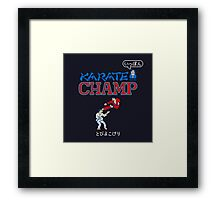 Karate Champ Retro Videogame Framed Print