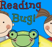 School Education Catch the Reading Bug Sticker