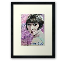 Louise, Mint Gown Framed Print