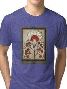 Red Flowers Bride Tri-blend T-Shirt