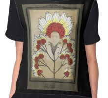 Red Flowers Bride Women's Chiffon Top