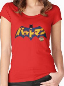 Vintage Japanese Batman Manga 1966 Women's Fitted Scoop T-Shirt