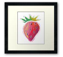 Pastel Strawberry Framed Print
