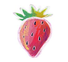 Pastel Strawberry Photographic Print