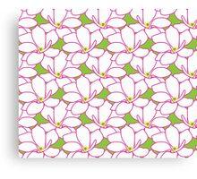 Takasaki Magnolia Full Bloom - Green & Pink Canvas Print