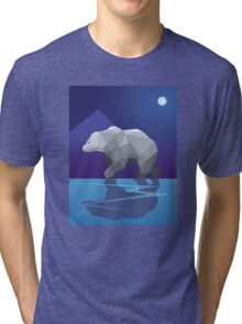 Geometric Polar Bear Tri-blend T-Shirt