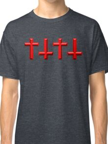 Red Crosses Pattern Design Classic T-Shirt