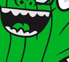 nerd geek face funny comic cunning hornbrille nerdy little green cactus, desert Sticker
