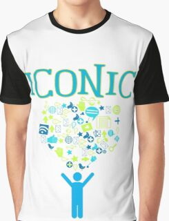 Iconic Techie Technology Icons Vector Illustration Graphic T-Shirt