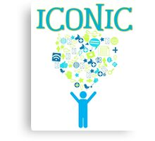 Iconic Techie Technology Icons Vector Illustration Canvas Print