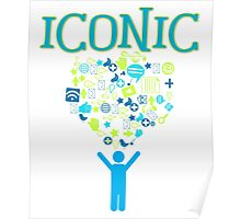 Iconic Techie Technology Icons Vector Illustration Poster